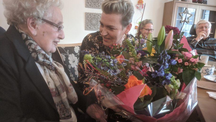 Marie Wesselink met Esther Hindriksen van TMZ