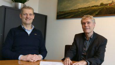 Wethouder Erik Volmerink en directeur Peter Roelofs