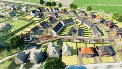 Visualisatie van bouwplan De Esch in Tubbergen