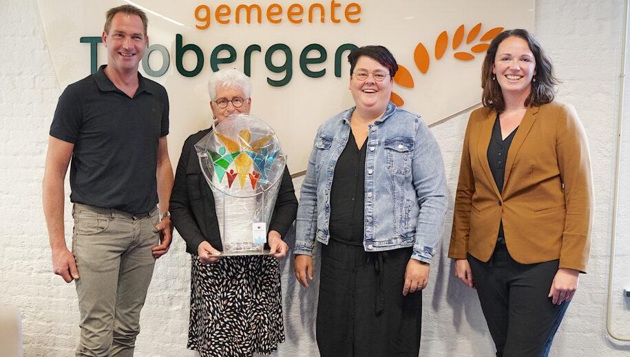 Gilbert Leemhuis, Ria van der Aa, Wendy Maathuis en wethouder Hilde Berning