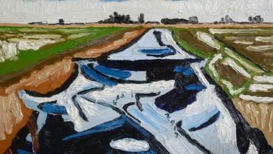 'Sneeuw en ijs op de Welsloot'