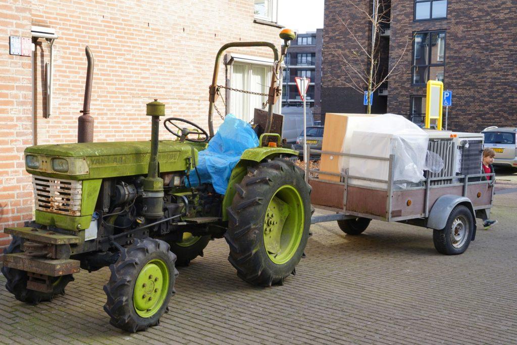 tractor, verhuizen, Evert Meijs