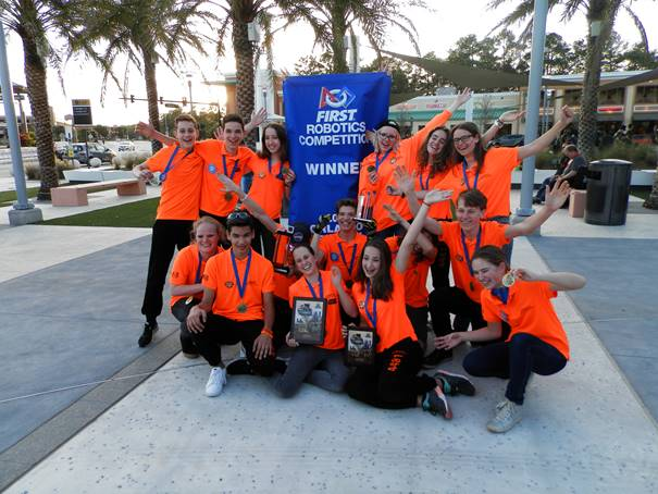 Team Rembrandts wint finale FIRST-robot in Orlando - Veghel