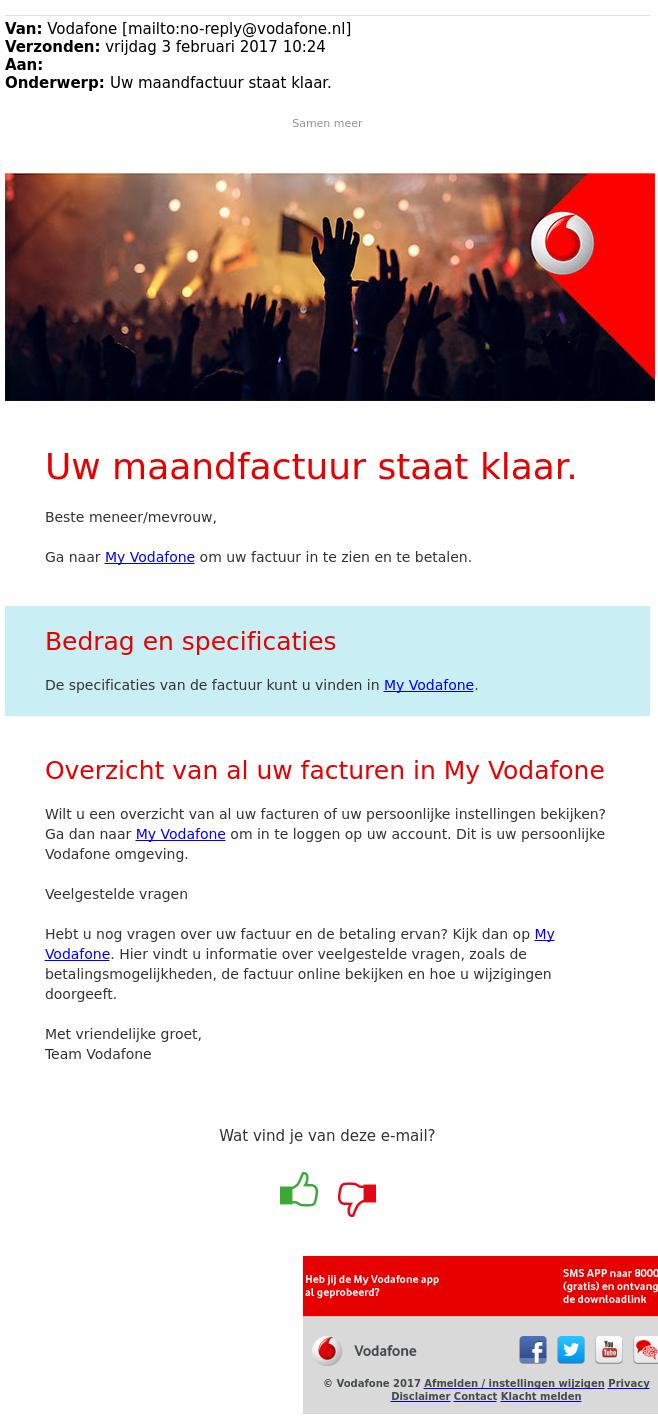 Waarschuwing: Doel onechte website Vodafone is phishing - Waalwijk