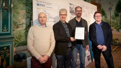 Vlnr: Rick Dusée, Mart van der Poel, Henri Swinkels en Dré van Dinther.