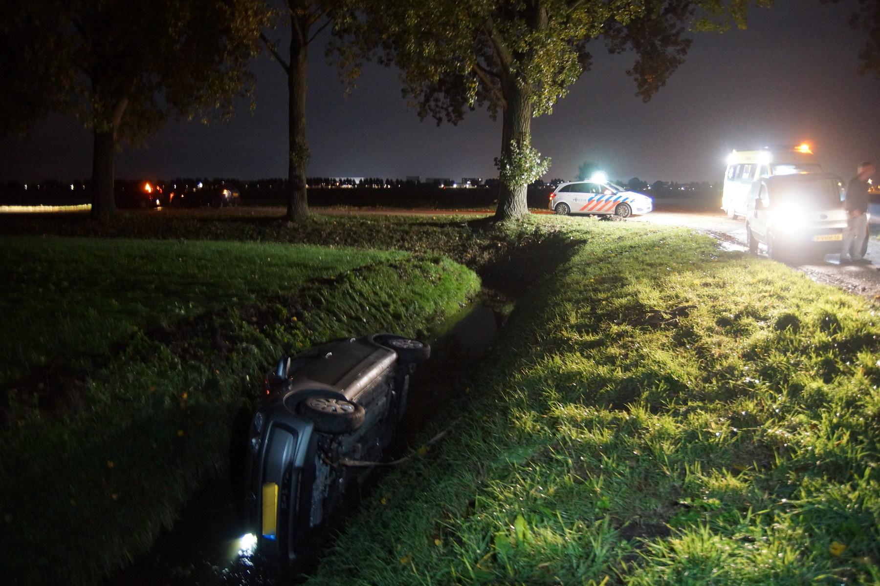 Auto te water in Sprang-Capelle - Waalwijk.nieuws.nl