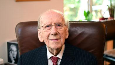 De 104-jarige Harrie van Oudheusden.