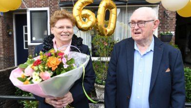 Het diamanten echtpaar Geer Pullens en Jeanne Pullens-Bakkers.