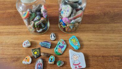Enkele voorbeelden van Happy Stones.