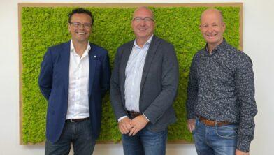Vlnr.: Martin Notté, Edward van Dam, Harald van Engelen