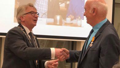 Roeland Janssen met de burgemeester