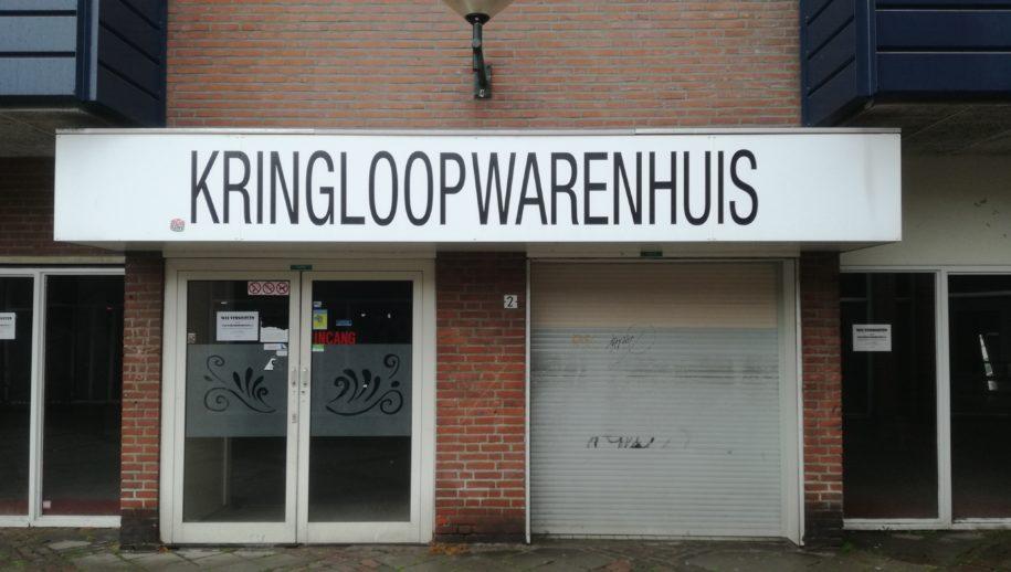 Het verlaten Kringloopwarenhuis aan de Vlaszak in Bergen op Zoom