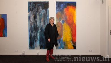 Ank van Meer in de Arsis Galerie