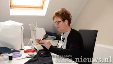 Mary Willigers in haar atelier