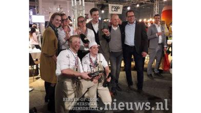 Het winnende team van Zoomvliet Hotelschool