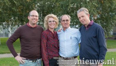 Vlnr: Urologen Henry Bickerstaffe, Ilze van Onna, Robert-Jan Hillenius en Derk van der Schoot