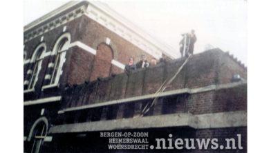 Foto van de eerste test uitzending vanaf het dak van het verpleeghuis