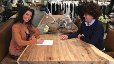 Suzana Jovanovic met Ellen  van Vlaardingen, van Ma Vie home & lifestyle