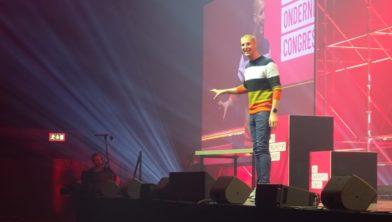 Maarten van der Weijden tijdens een presentatie die hij eerder dit jaar gaf in 's-Hertogenbosch.