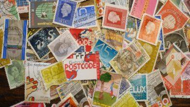 Archieffoto van postzegels ter illustratie