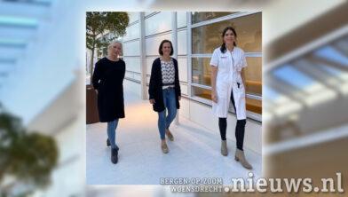 Saskia Dorresteijn en Jozine van Zeijl en gynaecoloog Peggy Vencken