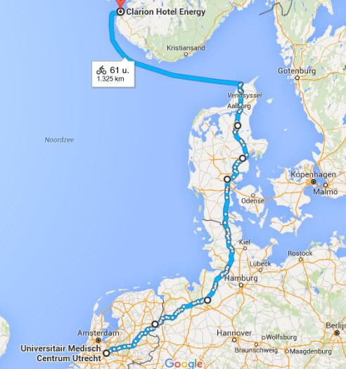 Route Stavanger