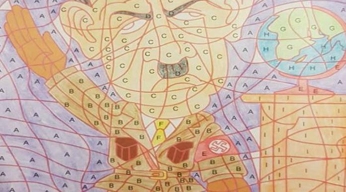 kruidvat haalt kleurboek met tekening uit de winkel