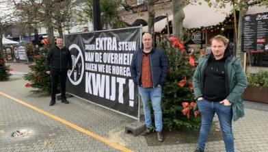 Enkele initiatiefnemers (v.l.n.r.): Martijn Koot (Anneke), Marco Megens (Meneer Smit) en Duco van Lent (Zaal 4)