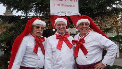 Het bestuur van de Kerstengelen (v.l.n.r.):  Rob Netten,  Sjaak Jansen en Piet Hendriks.