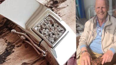 Theo Teeuwsen heeft weer alle reden tot lachen: zijn armband is teruggevonden.