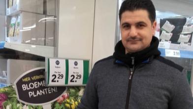 De gedupeerde supermarkteigenaar Jehad Al Ouwer