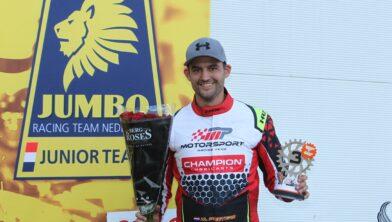 Martien Peeters werd derde in Spa-Francorchamps
