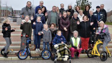 Deelnemers oudejaarswandeling Uithuizen