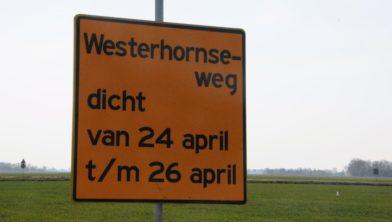 Westhornseweg, nabij de milieustraat
