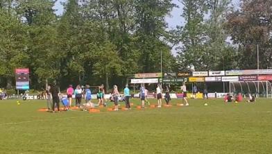 Stoepranden op de sportdag voor basisscholen
