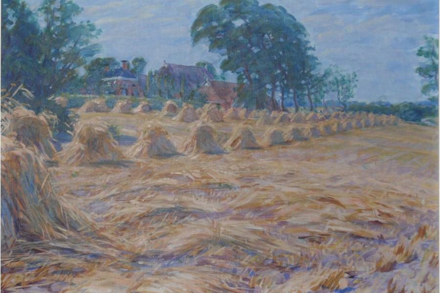 Het schilderij van Johan Dijkstra van de Enne Jans Heerd siert de omslag.