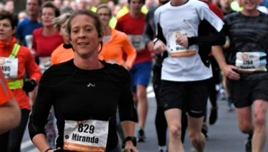 Miranda Vink tijdens de Zevenheuvelenloop