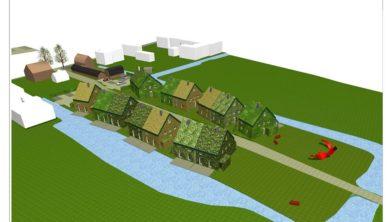 Het plan zoals dat was getekend voor Oostzaan.