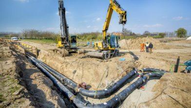 De aanleg van een warmtenet elders in Nederland.