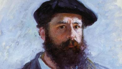 'Zelfportret met baret' van Claude Monet (1886, privécollectie).