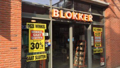 Het vorig jaar gesloten filiaal van Blokker in Assendelft.
