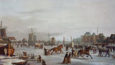 Harddraverij op de Zaan bij Wormerveer uit 1891, door Klaas van Vliet.