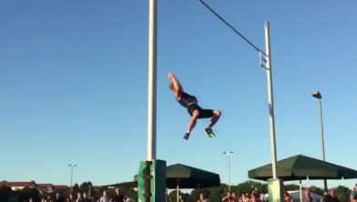 Menno Vloon sprong in 2017 over 5,85 meter.