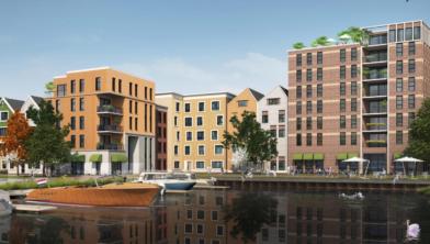 Een impressie van de toekomstige wijk Oostzijderpark in Zaandam.