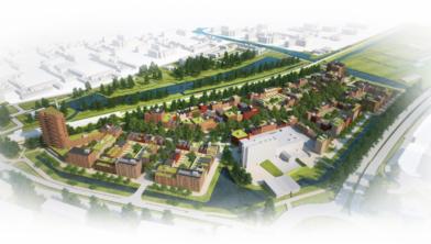 Een impressie van de nieuwe wijk Oostzijderpark.