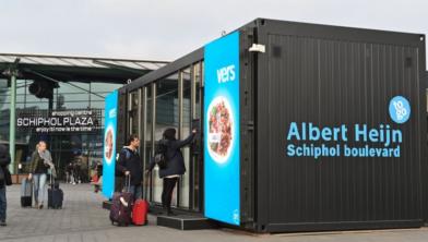 De digitale winkel op Schiphol Plaza.