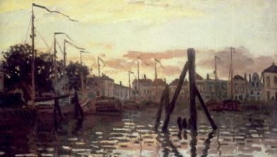 Claude Monet, 'De Haven van Zaandam' (1871).