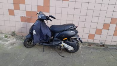 De scooter in kwestie.