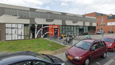 De sportschool aan de Dominee Martin Luther Kingweg in Zaandam.