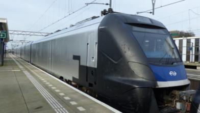 Ook de NS kunnen profiteren van camera's. Deze trein werd in januari beklad in Wormerveer.